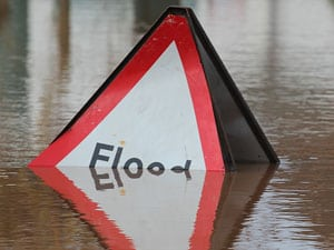 Flood sign: image by Bob Embleton