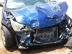 Damage to a car involved in a road traffic collision